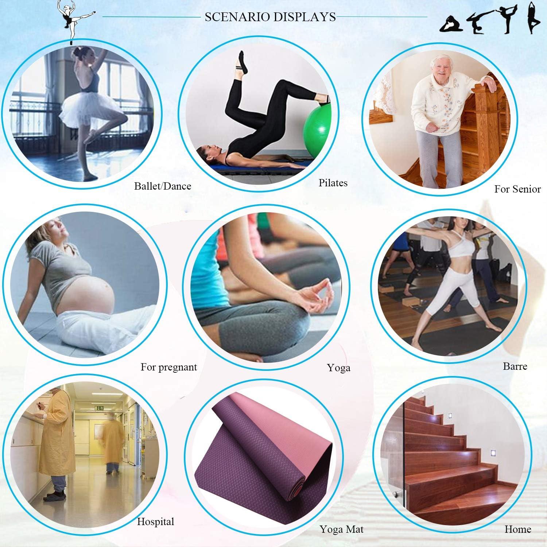 HYCLES Poign/ées Ballet Barre Pilates Chaussettes Antid/érapantes Yoga Collantes Grippers Chaussettes Femmes