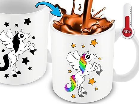 Amazon.com: Taza de café con diseño de unicornio blanco que ...