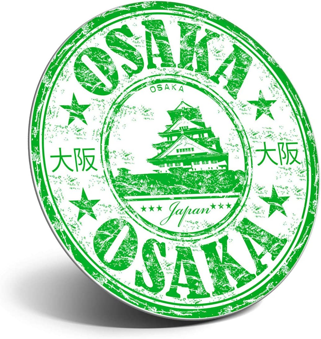 Awesome Magnet for Refrigerator, Fridge - Osaka Japan Japanese Travel Stamp for Office, Cabinet and Whiteboard, Magnetic Stickers, Cool Gift #5958