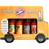 Thoughtfully Gifts, Hot Sauce Sampler: Globetrotter Edition Gift Set, Includes 4 Unique Hot Sauces: Orange, Chipotle…