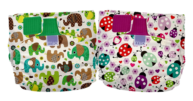 Bambino Mio Miosolo - con diseño de elefantes y de mariquita de pañales reutilizables (Pack de 2): Amazon.es: Bebé
