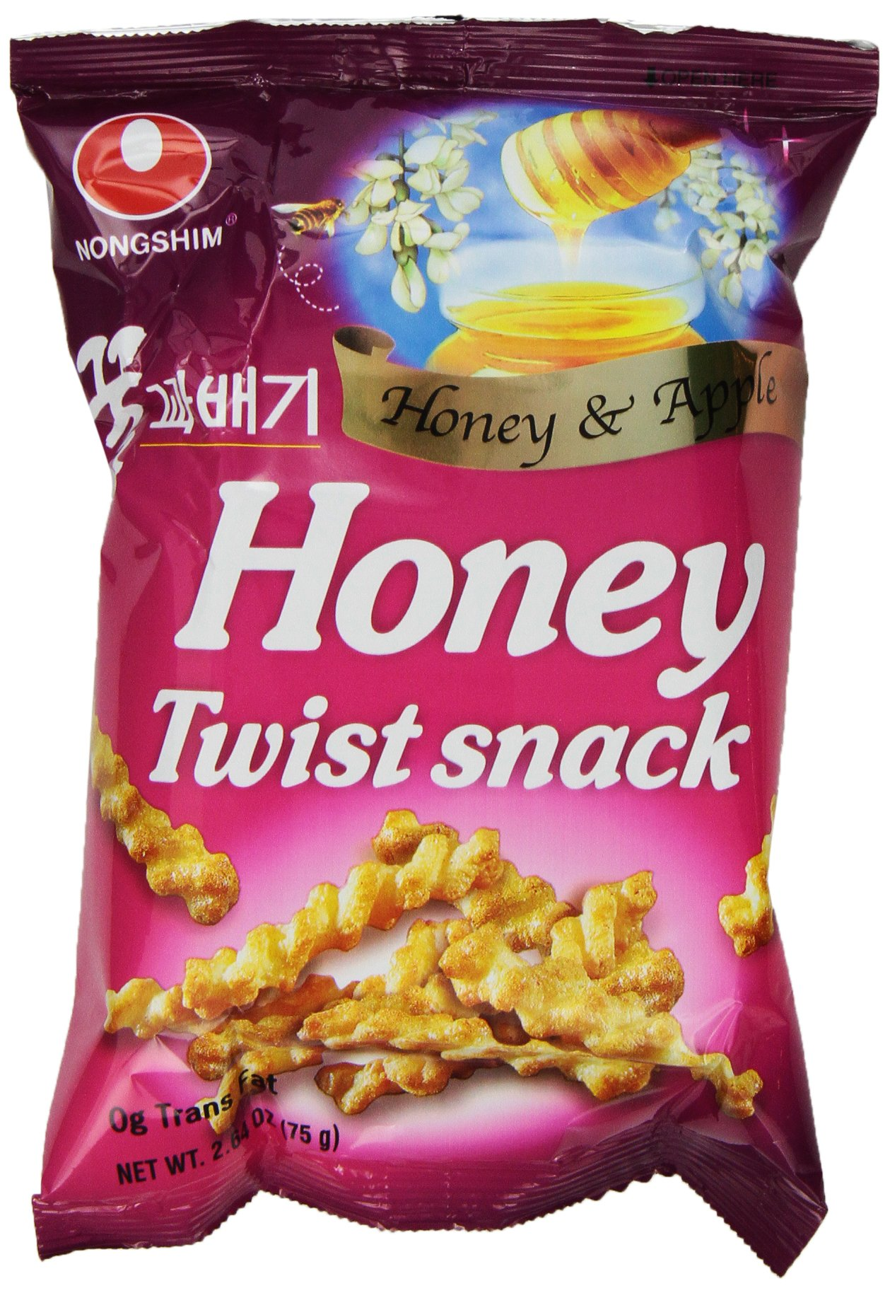 NongShim Honey Twist Snack, 2.64 Ounce Packages (Pack of 20) by Nongshim