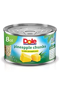 Dole, Pineapple Chunks in 100% Pineapple Juice, 8oz
