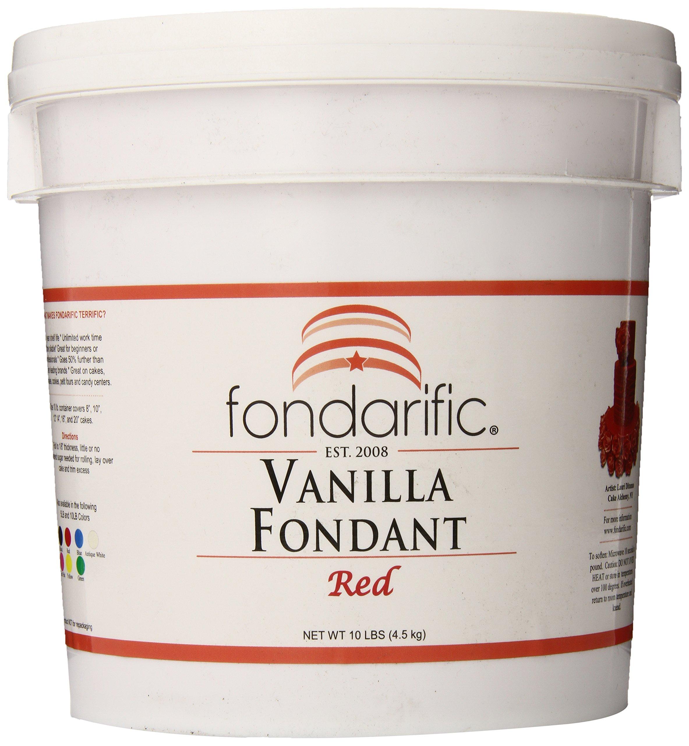 Fondarific Vanilla Red Fondant, 10-Pounds