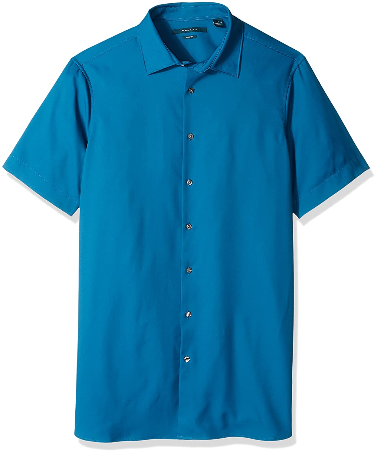 Perry Ellis Mens Big and Tall Total Stetch Solid Shirt