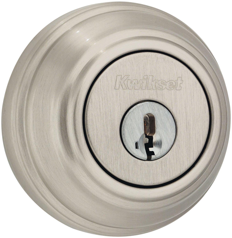 Kwikset 980 Single Cylinder Deadbolt Featuring Smartkey In Satin Nickel 8
