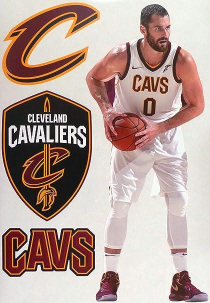 wholesale dealer 77902 3d287 FATHEAD Kevin Love Cleveland Cavaliers Logo Set Official NBA Vinyl Wall  Graphics 16
