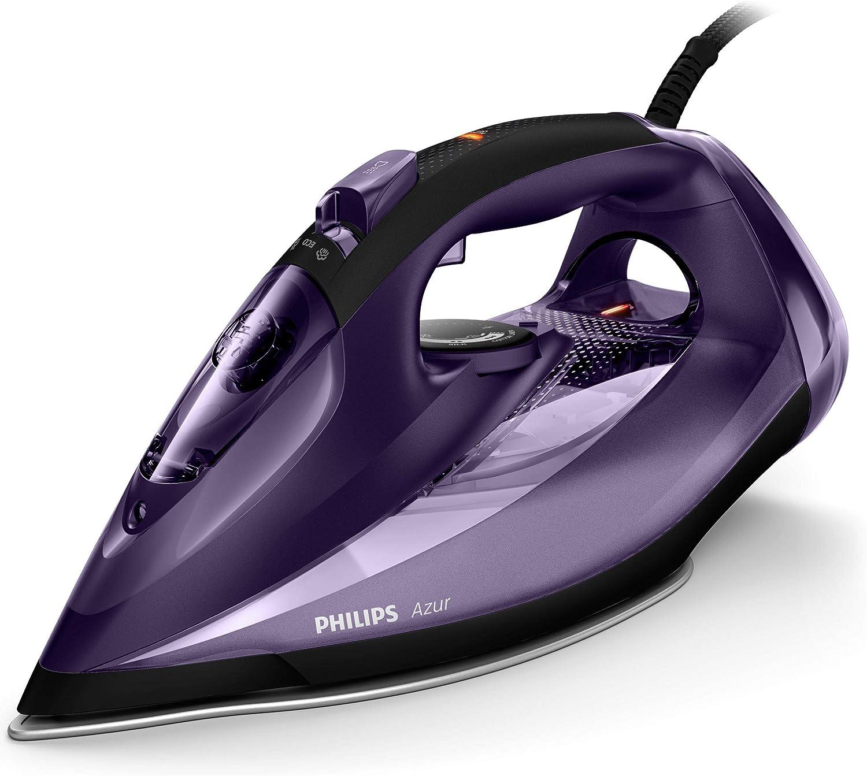 Philips Azur - Plancha (Plancha a vapor, Suela de SteamGlide, 2 m, 230 g/min, Violeta, 50 g/min): Amazon.es: Hogar