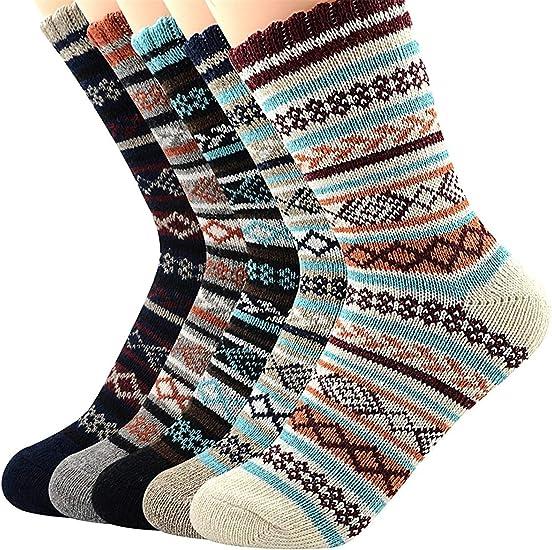 Womans Wool Socks Cold Weather Socks Funky Cabin Bombas Socks For Women