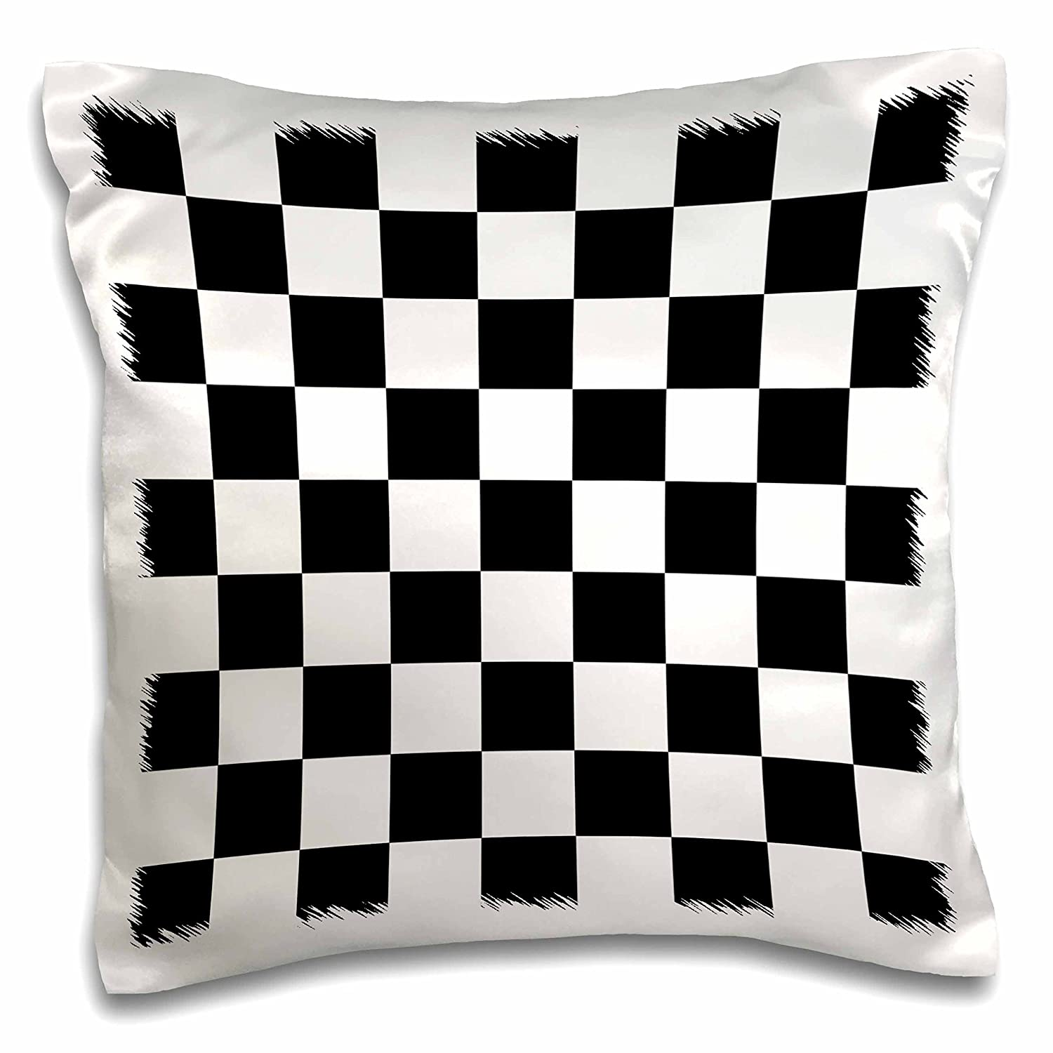 Amazon.com: 3dRose Check black and White Pattern-Checkered Checked ...