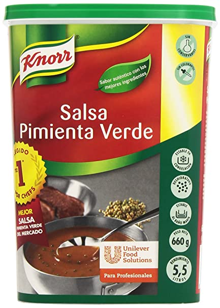 Knorr - Salsa - Pimienta Verde - 660 g