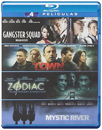 Pack: Gangster Squad + The Town + Zodiac + Mystic River Blu-ray: Amazon.es: Josh Brolin, Ryan Gosling, Ben Affleck, Jake Gyllenhaal, Robert Downey Jr., Sean Penn, Ruben Fleischer, Ben Affleck, David Fincher,