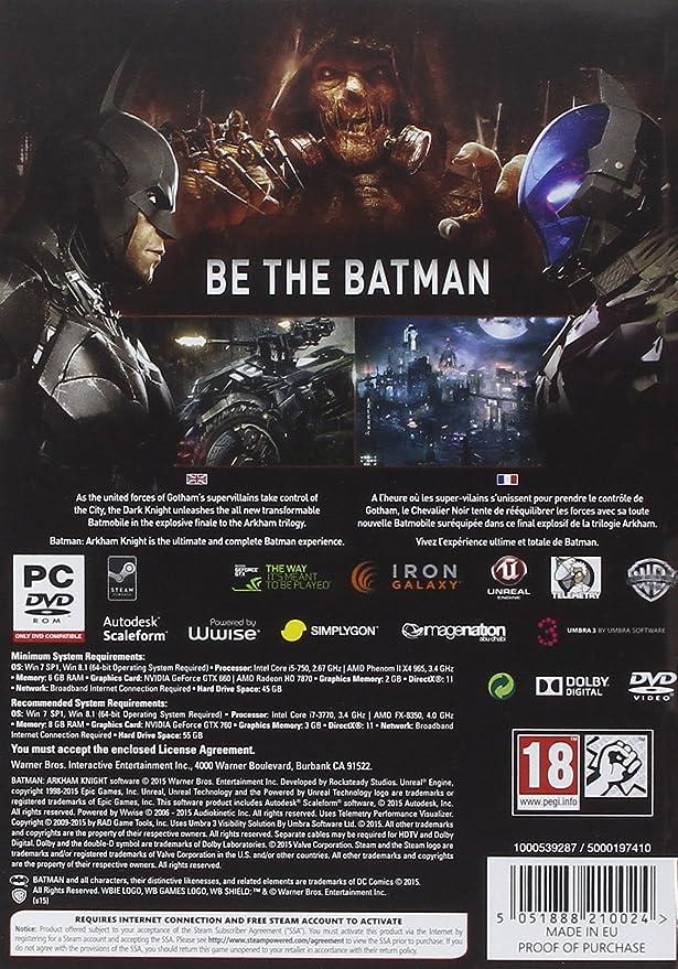 Batman: Arkham Knight PC DVD: Amazon co uk: PC & Video Games