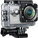 Topop-4K WIFI Action Camera, WiFi e App Gratuita per Android e IOS, Videocamera 20MP e UHD Sport 2,0 LCD, Impermeabile, Menu Plurilingue & Multi-angolo di FOV,BSI CMOS Sensore e Accessori Multipli