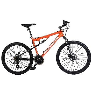 b866d656ef5 Muddyfox Unisex's T-Blaze Dual Suspension 21 Speed Mountain Bike, Orange,  26-