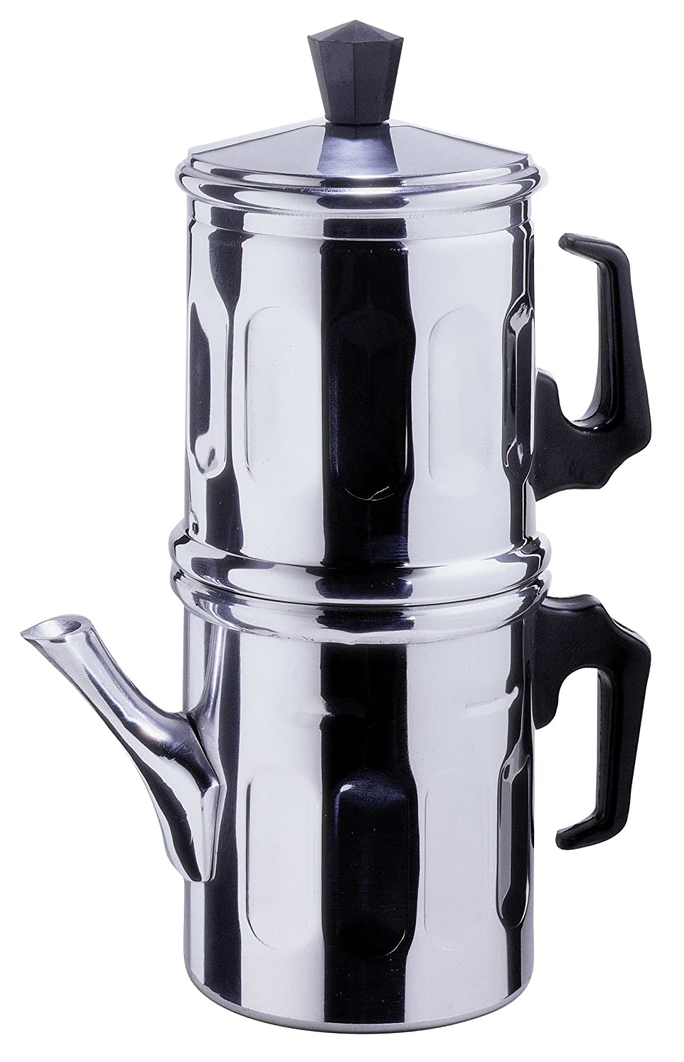 ILSA Neapolitan Coffee Maker 3-4 Cup Size - Aluminium made[ Italian Import ] Art. 4