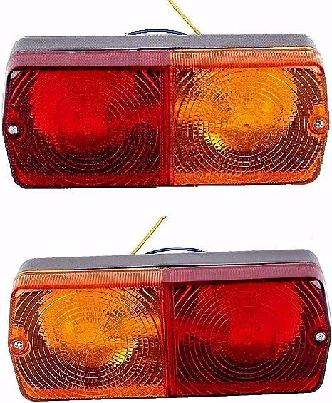 Jeu de feux arrière pour tracteur Massey Ferguson avec ampoule 12 V