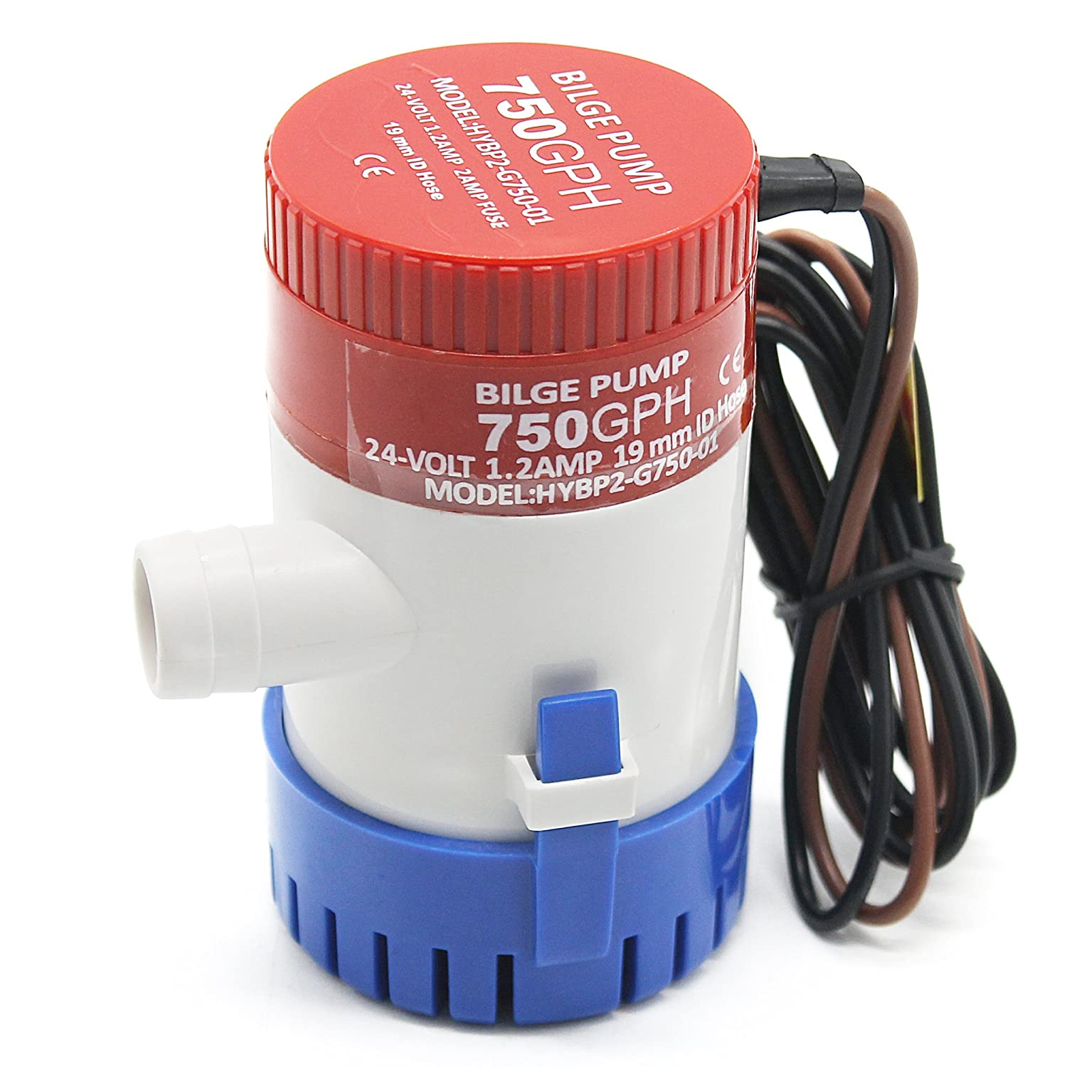 IZTOSS 12v 750gph Bilge Pump Submersible Fish Marine Boat Electric Bilge Water Pump