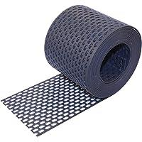 trauf rejilla PVC 50hasta 180mm, 5m ruedas, Negro