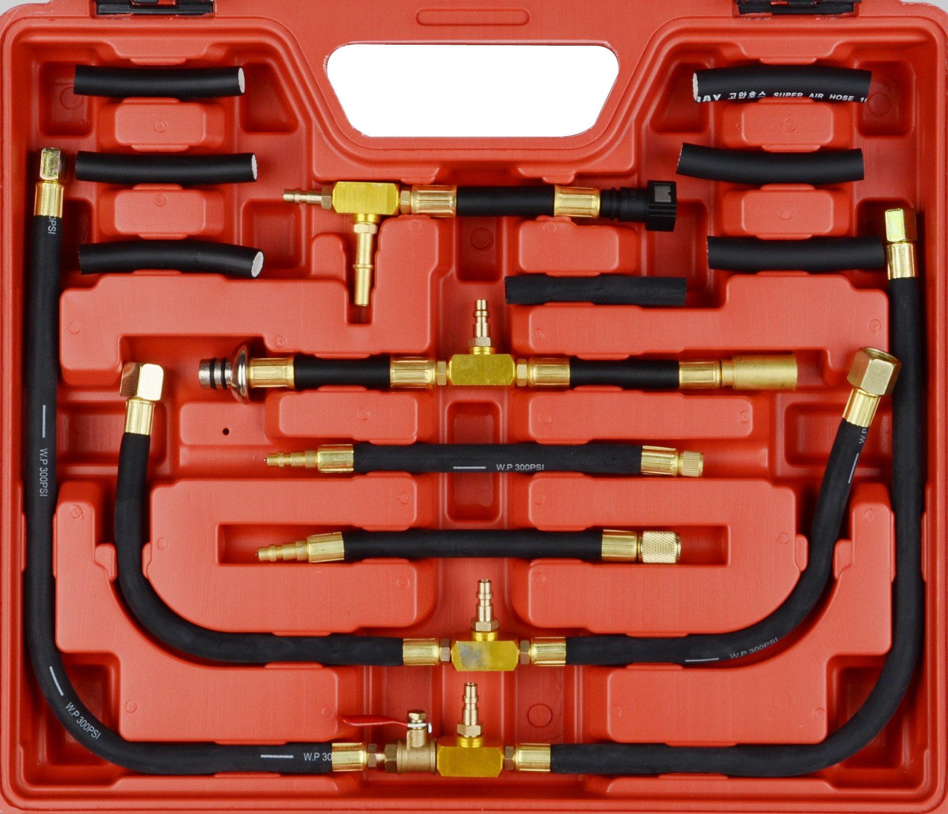 DA YUAN 0-140 PSI Fuel Injection Pressure Gauge Tester Tool Kit by DA YUAN (Image #2)