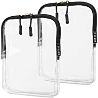 TSA Approved Toiletry Bag - Clear Cosmetic & Travel Toiletries Organizer - Quart Size for 3-1-1 Liquids & Other Personal…