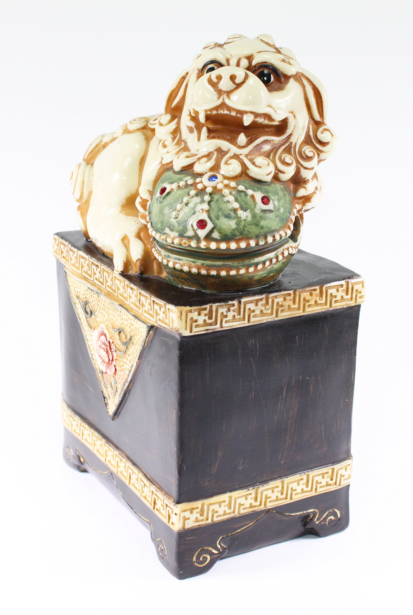 Feng Shui 9.5'' Chinese Fu Foo Dogs Guardian Lion Home Decor Statue