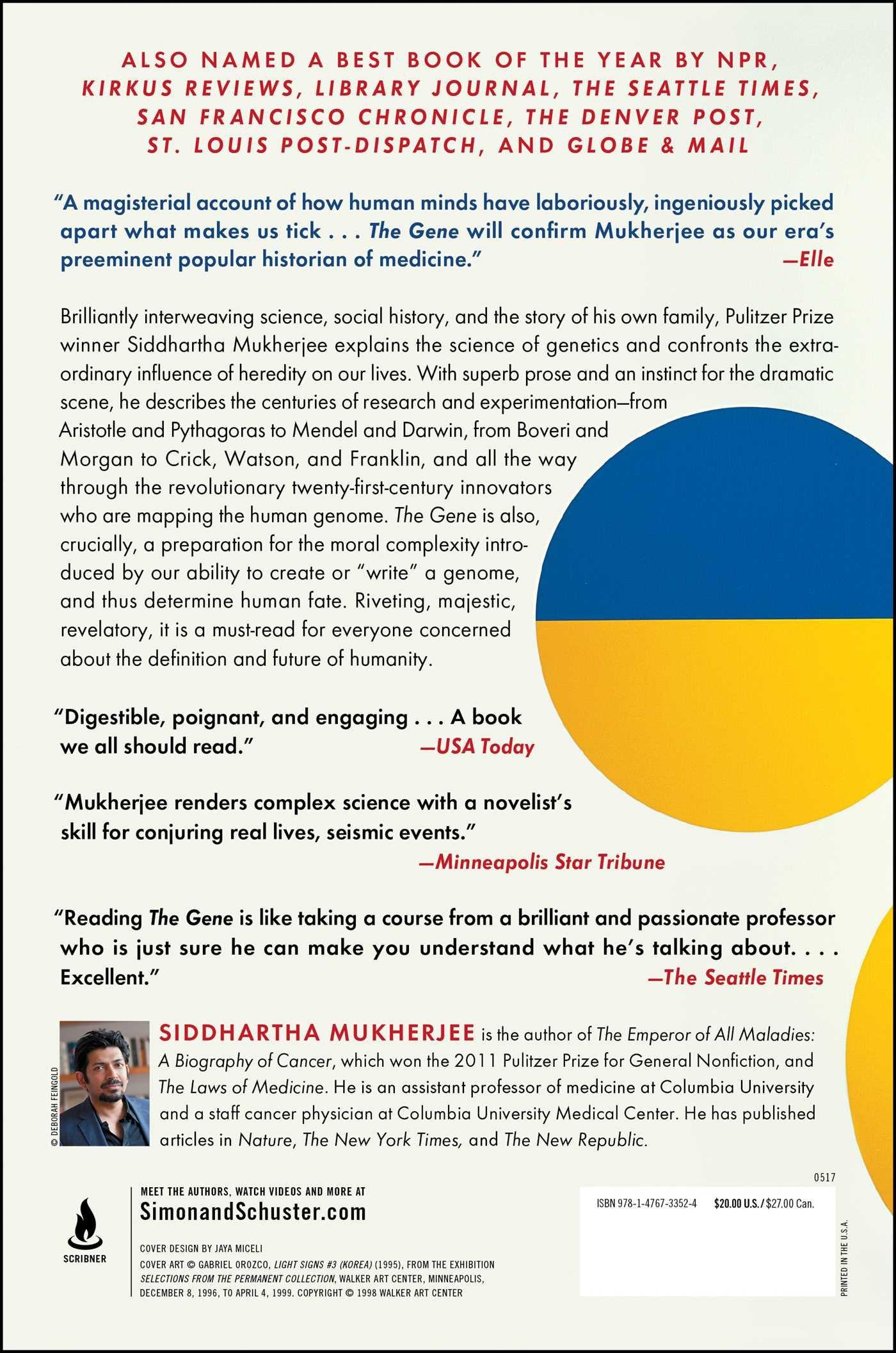 The Gene: An Intimate History: Siddhartha Mukherjee: 9781476733524:  Amazon: Books
