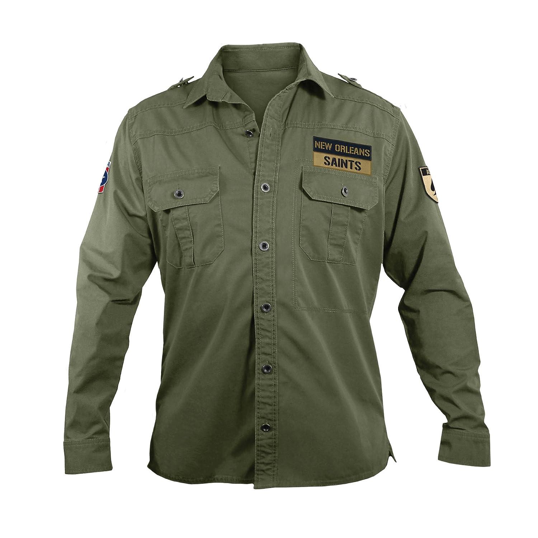 new products 586f1 08f95 NFL New Orleans Saints Men's Military Field Shirt, Medium