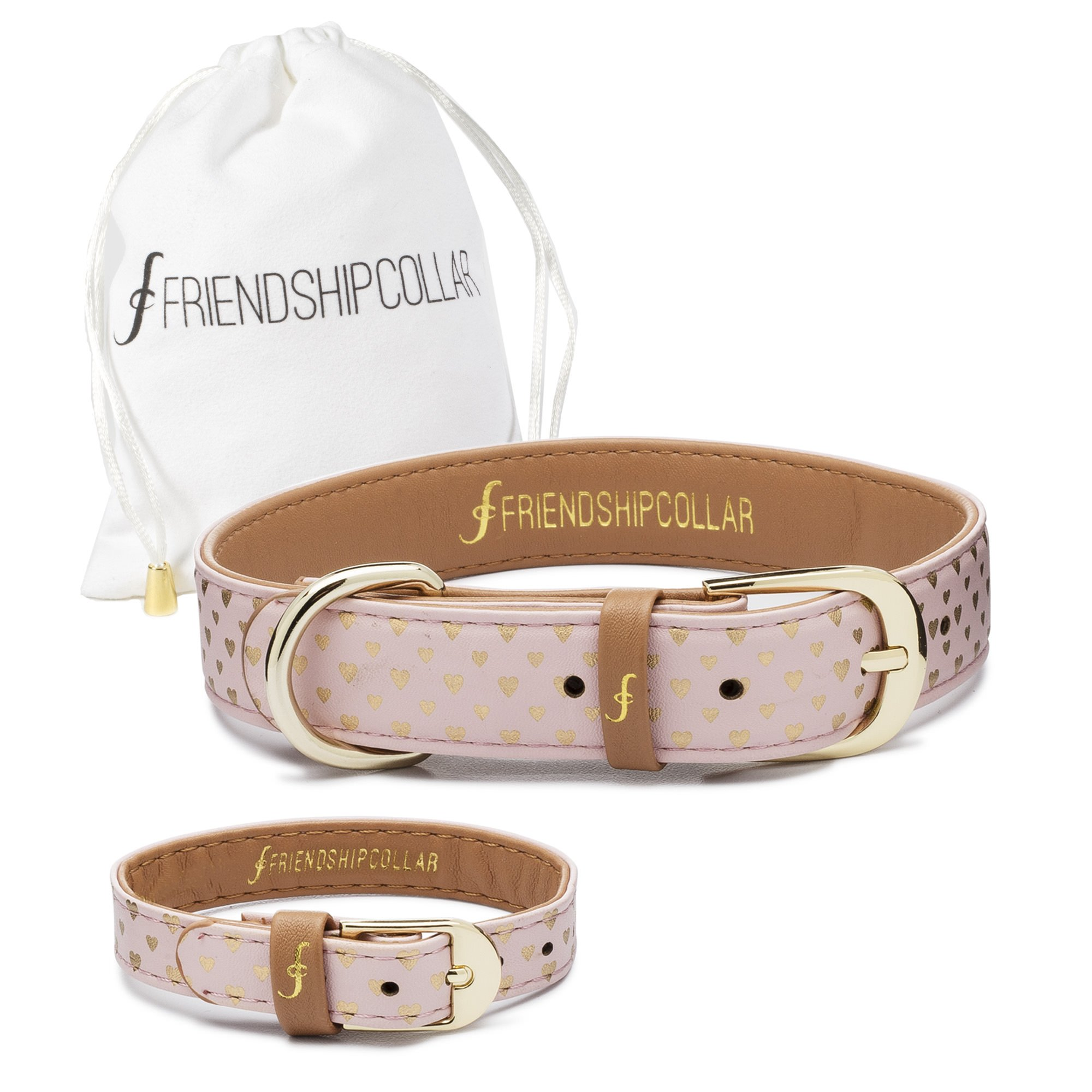 FriendshipCollar Dog Collar and Friendship Bracelet - Puppy Love - X Small