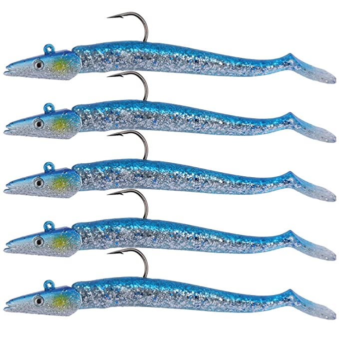 Best Fishing Lure : Goture Saltwater and Freshwater Lead Head Jigs Soft Fishing Lures