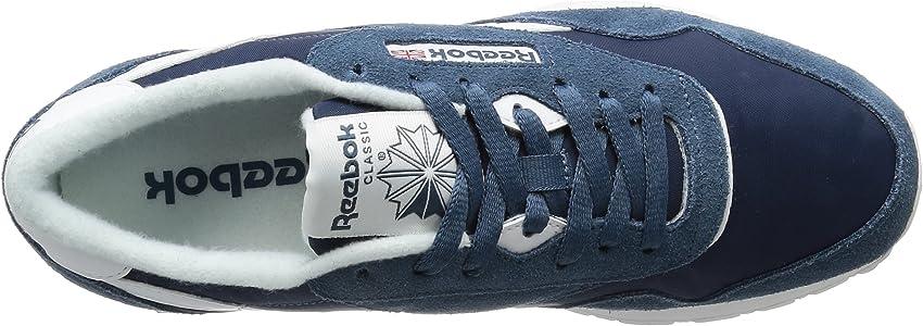 Reebok Herren Classic Nylon Sneaker, blau (Brave Blue weiß