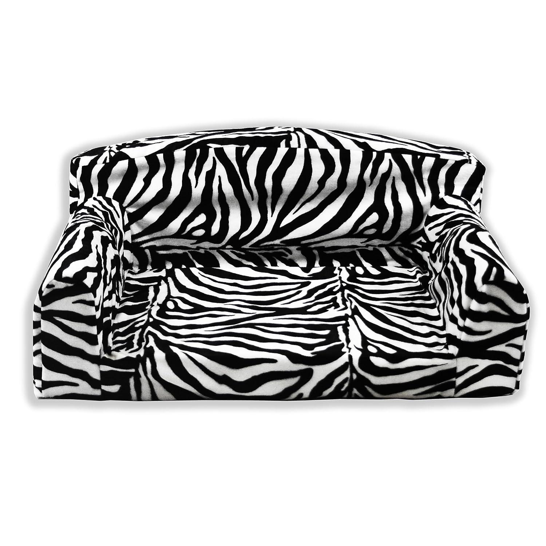 Optique Zèbre Animal Pet–Canapé lit pour chien. 3tailles. Housse de haute qualité Matériau. Fabriqué au Royaume-Uni Pet Beds Direct