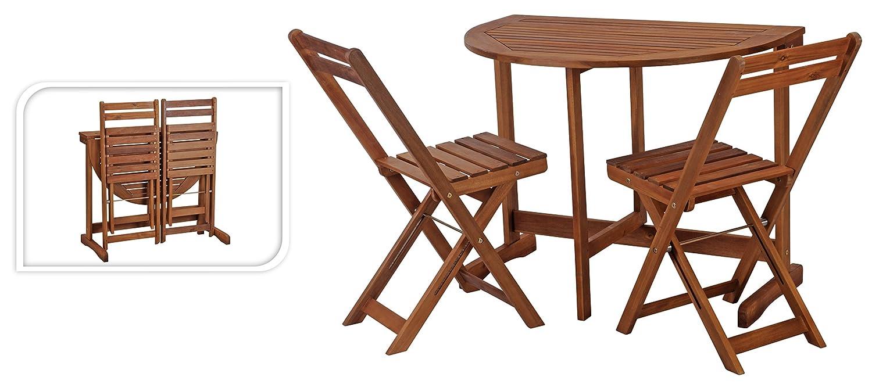 gartenm belset tisch 2 st hle klapptisch halbrund. Black Bedroom Furniture Sets. Home Design Ideas