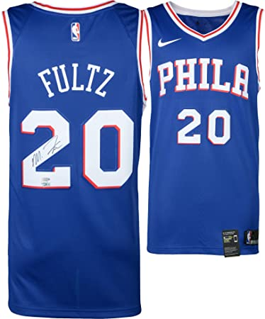 b134c057e Markelle Fultz Philadelphia 76ers Autographed Blue Swingman Jersey - Upper  Deck - Fanatics Authentic Certified