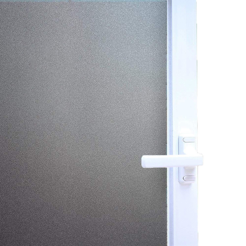 DUOFIRE Pellicola Per Finestre Vetri Pellicola Privacy Pellicola Decorativa Autoadesive Pellicola Anti-UV DS001B (90cm X 200cm)