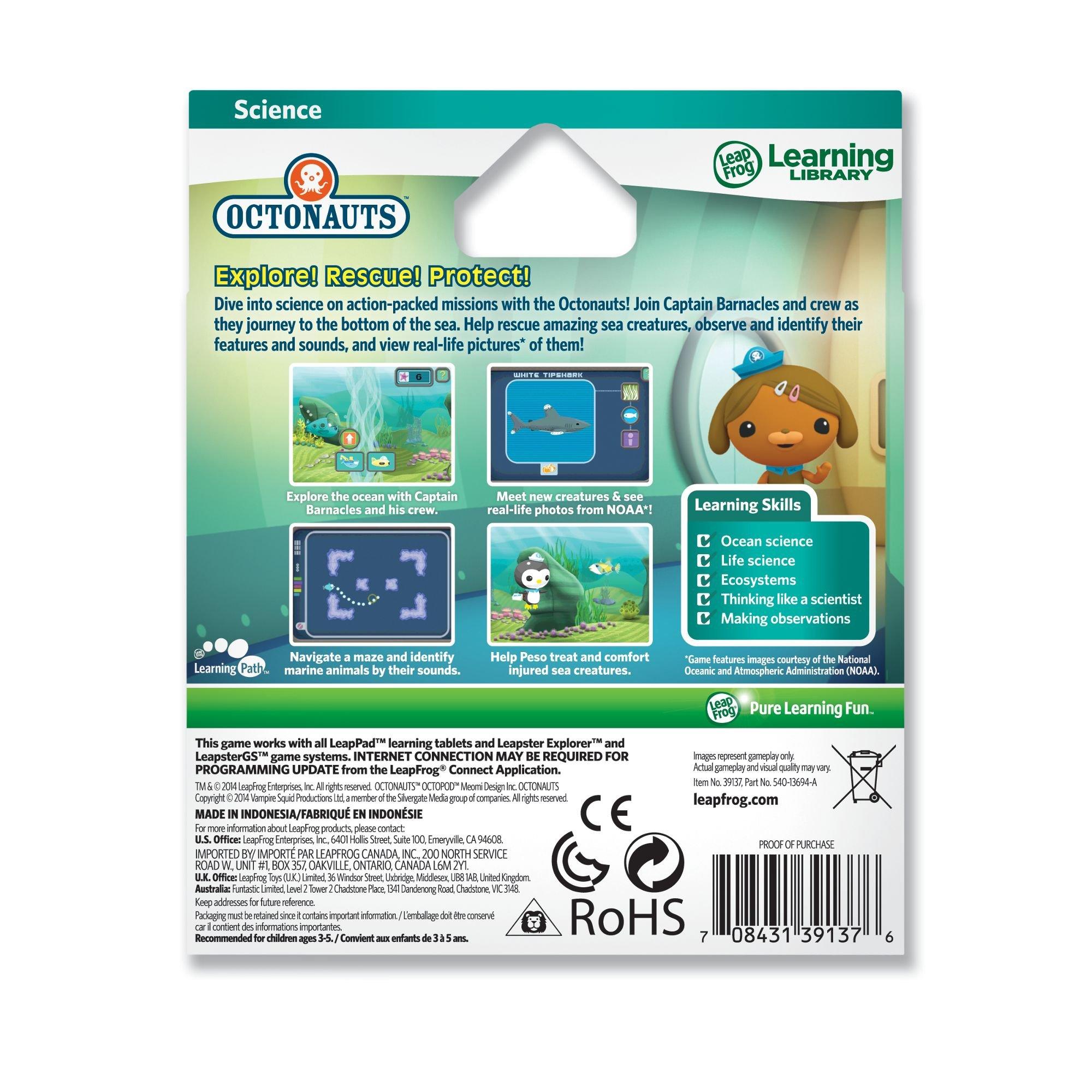 LeapFrog Science Learning Game Disney Octonauts for LeapPad Platinum, LeapPad Ultra, LeapPad1, LeapPad2, LeapPad3, Leapster Explorer, LeapsterGS Explorer by LeapFrog (Image #2)