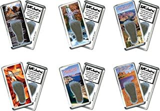 product image for Grand Canyon FootWhere Magnets. 6 Piece Set. Authentic Destination Souvenir acknowledging Where You've Set Foot. Genuine Soil of Featured Location encased Inside Foot Cavity. Made in USA.
