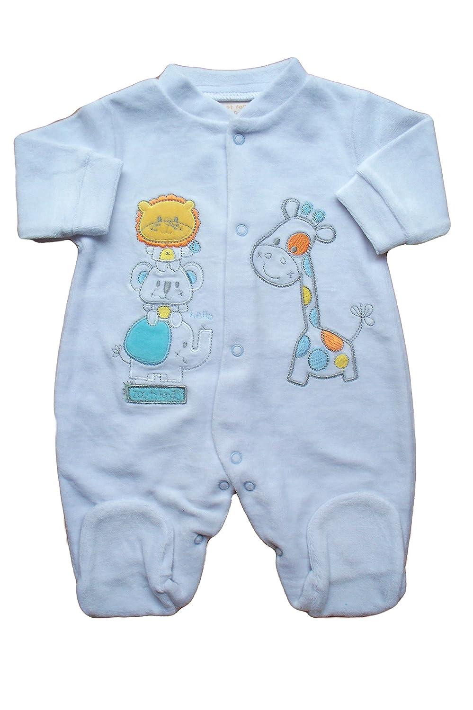 c4a0000d7 Baby boys girls white velour sleepsuit babygrow (NEWBORN)  Amazon.co ...
