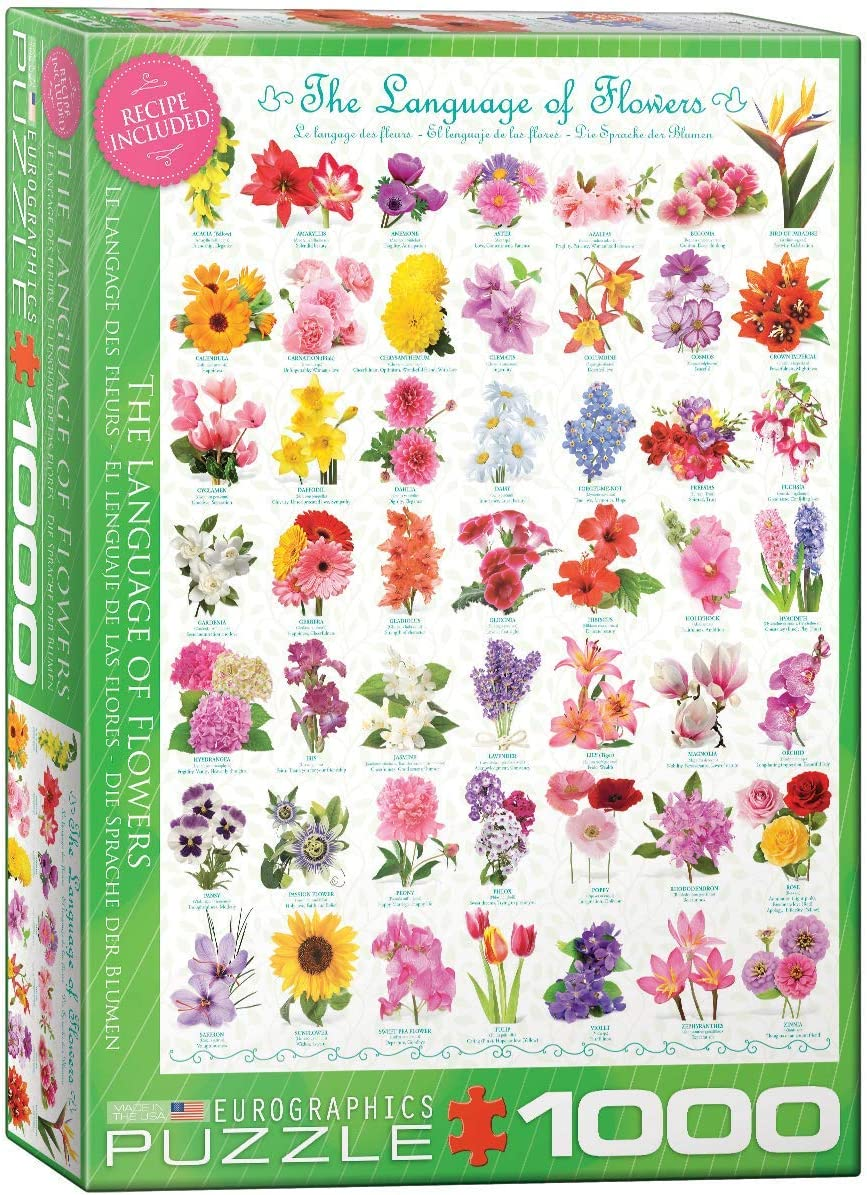 EuroGraphics The Language of Flowers Puzzle (1000-Piece) (6000-0579)