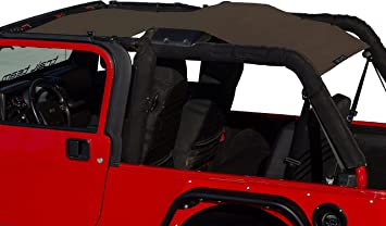 Badass Moto Jeep Wrangler TJ Mesh Sun Shade Top Cover Easy To Install Wind /& Noise Protection Sunshade Keeps Passengers Cool For Extra Comfort Great Looking Accessories for your Jeep. UV