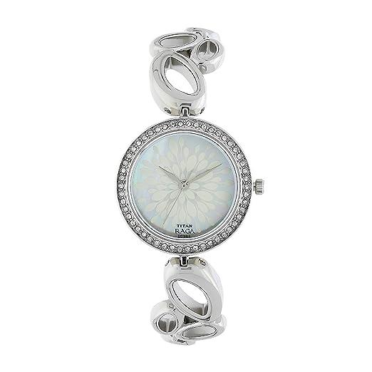 Titan Women's Pearl Of Watch 2539sm02 Raga Analog Mother Dial L54ARj3