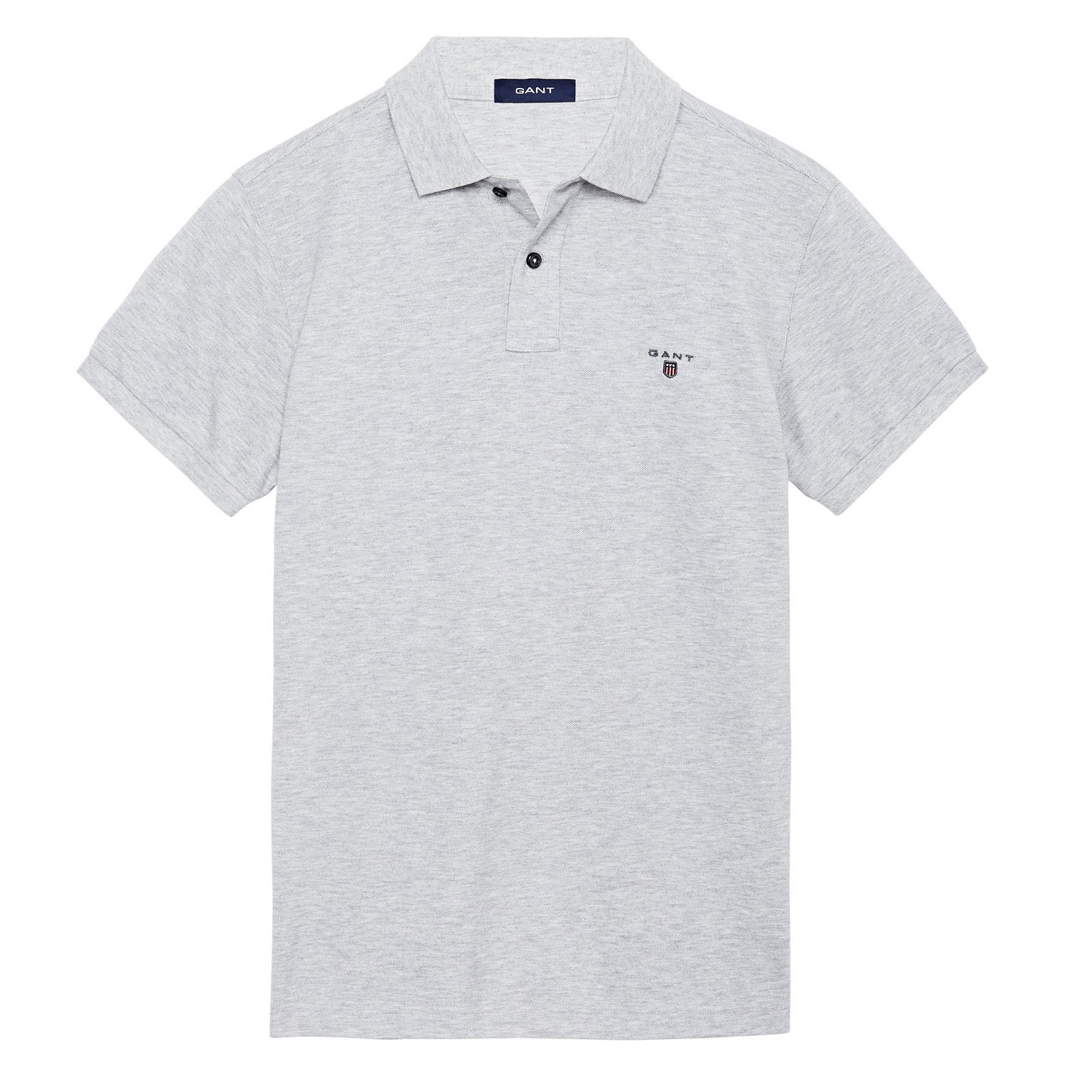 Gant - Polo - para Hombre Light Grey Melange 94 X-Large: Amazon.es ...