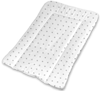 31f896e0e5fc Baby Changing Nursery MAT for Changing Unit 100% Cotton (4. Small Grey  Stars on White): Amazon.co.uk: Baby