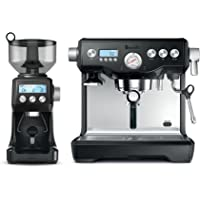 Breville The Dynamic Duo Espresso Machine with Grinder, Black Sesame BEP920BKS
