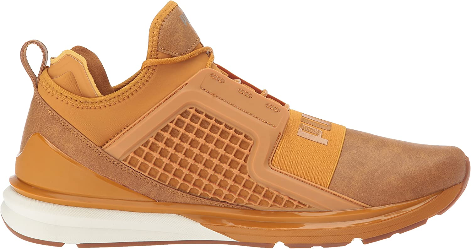Puma Chaussures en Cuir Ignite Limitless Pour Homme Or Inca
