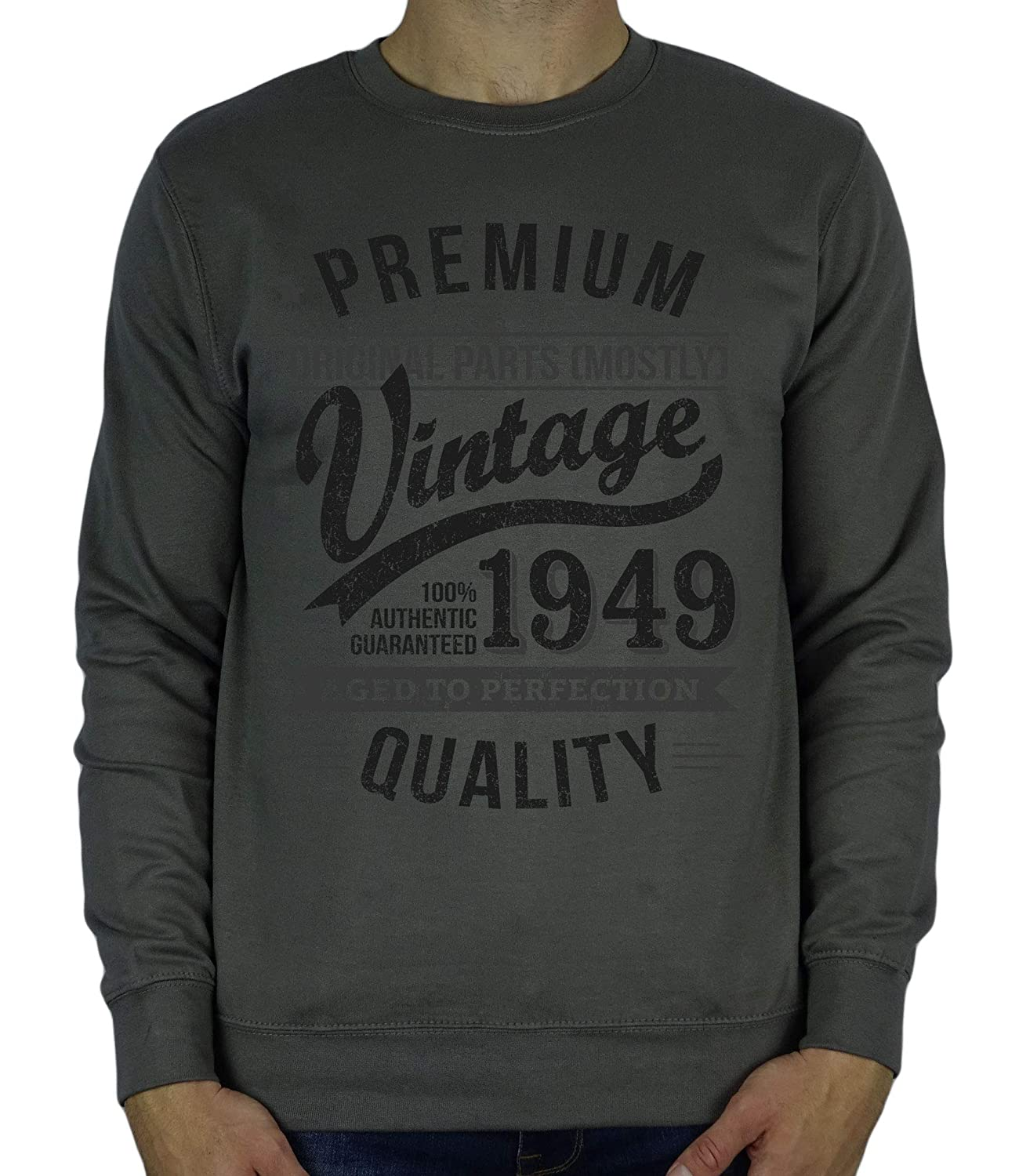 1949 Vintage Year Aged to Perfection Sweatshirt Cadeau Homme Anniversaire 70 Ans