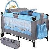 Infantastic Kinder Reisebett mit Babyeinlage Höhenverstellbar Laufstall Babyreisebett Inkl. Matratze + Zubehör