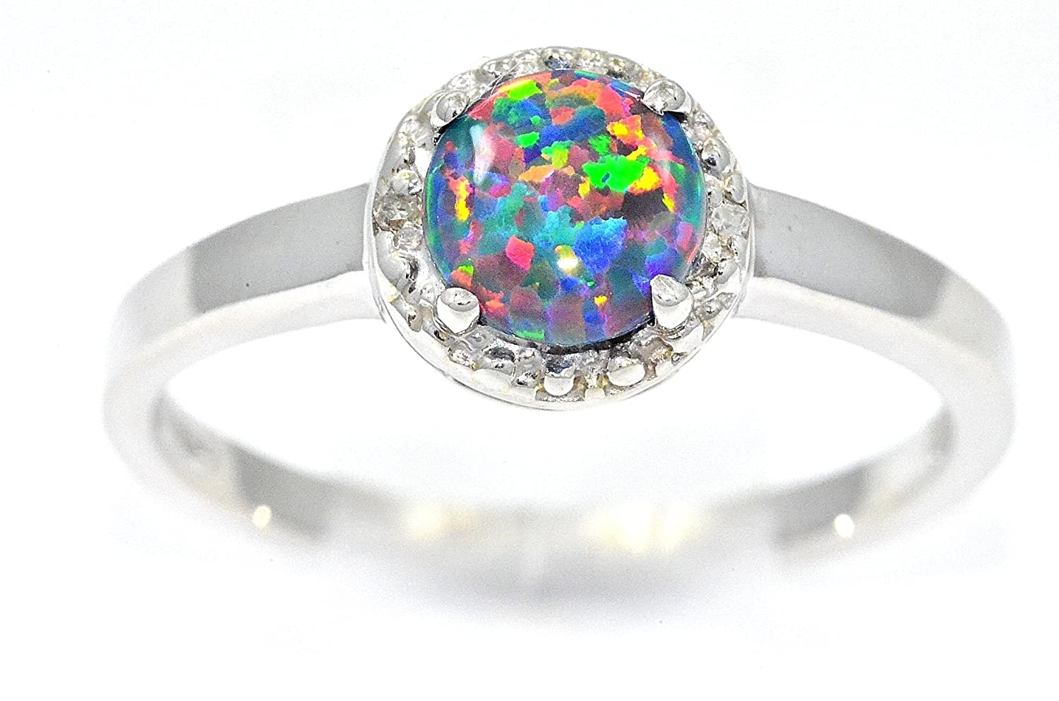 white rhodium topaz rings fire plated black mystic opal shop engagement ring
