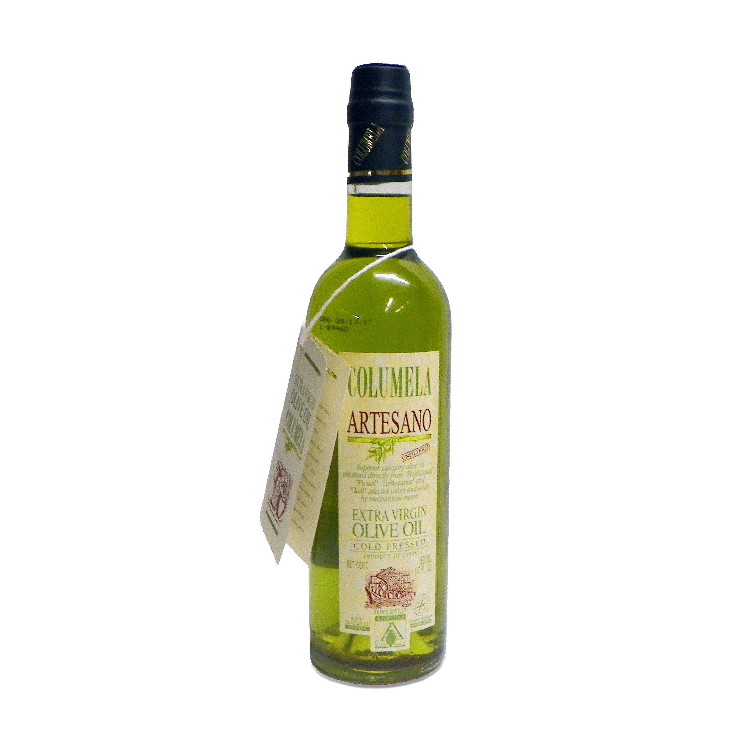 Columela Artesano Unfiltered Cold Pressed Extra Virgin Olive Oil, 17oz