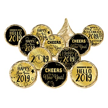 new years eve 2019 party favor stickers gold metallic foil 324 count